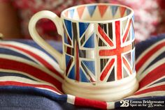 The Union Jack, courtesy of Emma Bridgewater Best Of British, British Things, Claude Monet, Vincent Van Gogh, Union Jack Decor, Portsmouth England, Emma Bridgewater Pottery, Union Flags, Living In England