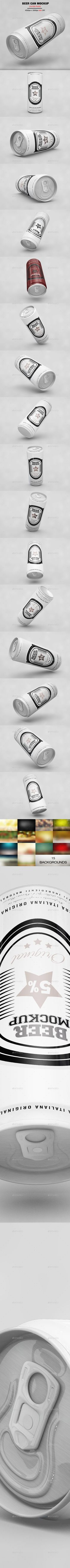Beer Can MockUp - Product #Mock-Ups #Graphics Download here: https://graphicriver.net/item/beer-can-mockup/20053290?ref=alena994
