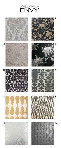 I am going with #5! Glamorous wallpaper for your home (details on where to buy them at www.twozeroone.ca)