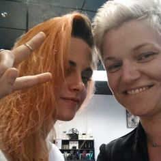Pin for Later: Prepare Yourself For Kristen Stewart's Freshly Dyed Orange Hair