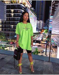 Neon slime insta baddie outfit inspo Source by SaintLaurentScarf baddie outfits Neon Outfits, Chill Outfits, Swag Outfits, Short Outfits, Trendy Outfits, Summer Outfits, Night Outfits, Fashion 90s, Black Girl Fashion