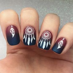 Lovely dream catcher stamping nails, how do you think of it? Thanks for bornpretty's customer sharing :)