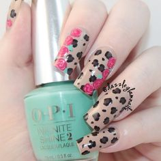 Mix up dainty and edgy in one perfect mani using these gel-like nail laquers. Discover which OPI Infinite Shine colors were used in this easy tutorial.