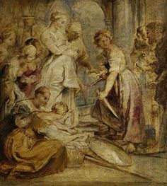 The Discovery of Achilles among the Daughters of Lykomedes - Rubens, c. 1618