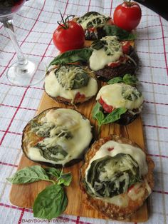 Gluten Free Eggplant Mini Pizzas http://www.babyboomster.com