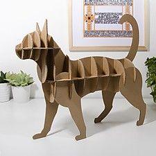Cardboard Cat by Designer Milimetrado Cardboard Model, Cardboard Sculpture, Cardboard Crafts, Paper Crafts, Plywood Projects, Diy Crafts Hacks, Origami Stars, Baby Kind, Paper Toys
