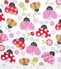 Joann S Nursery Fabric Ladybug Garden Toss Love The Mix Of Prints On Lady