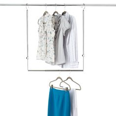 Enjoy free shipping on all purchases over $75 and free in-store pickup on the Umbra Dublet Adjustable Closet Rod Expander at The Container Store. When you add our Dublet Adjustable Closet Rod Expander by Umbra to an existing closet rod, you instantly create more room for hanging clothes. It's completely adjustable so you can customize it to fit your closet space. Installs in seconds without tools or additional hardware; removes quickly when it's time to move - perfect for dorm rooms...