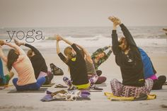 Yoga Flash Mob in Ormond Beach, FL being guided by Brittny founder of Twin Flame | Yoga Apparel for your Soul