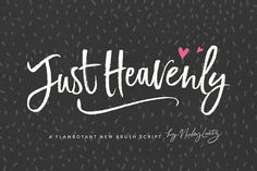 Just Heavenly Brush Font & Extras on Creative Market. Digital design goods for personal or commercial projects. Graphic design elements and resources.