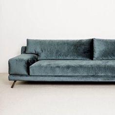 SOFAS IDEAS | Karien anne - furniture: grey navy velvet sofa | www.bocadolobo.com #luxuryfurniture