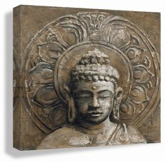 Giclee of Buddha Painting STRENGTH 12x12inch