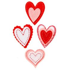 Bulk Buy: Darice DIY Crafts Felties Felt Stickers Valentine's Day Stitched Heart 20 pieces (6-Pack) FLT-2755 ** Click image for more details.