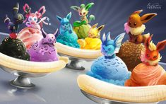 Eevee Banana Splits by TsaoShin.deviantart.com on @DeviantArt