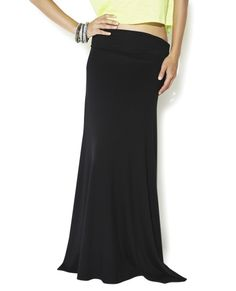 Solid Maxi Skirt - Bottoms
