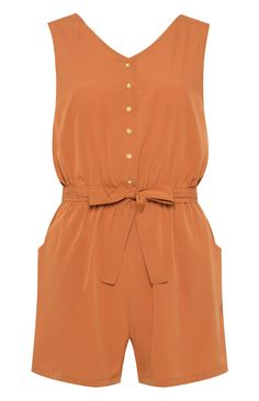 Holiday Essentials: Burnt Orange Sleeveless Playsuit from Primark Trendy Outfits, Summer Outfits, Fashion Outfits, Maxi Skirt Outfits, Cute Rompers, African Fashion, Casual Looks, Plus Size Fashion, Clothes For Women