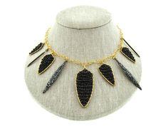 Goddess Black Spinel Necklace