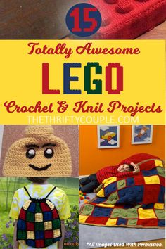 15 Totally Awesome Free Lego Crochet and Knit Patterns