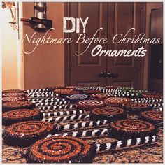 DIY Nightmare Before Christmas Ornaments
