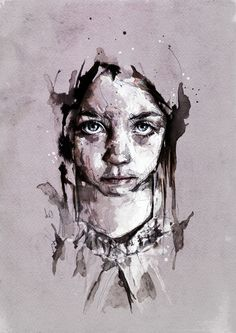 This portrait contains a lot of texture and different mediums, giving a grimy feel for the overall piece. I would like to achieve a look like this in my final image. My chosen colour pallet would contain more colour than this image. (Florian Nicolle)