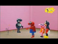 Mickey Mouse Clubhouse Peppa Pig Español Spiderman Venom Elsa Play Doh S...
