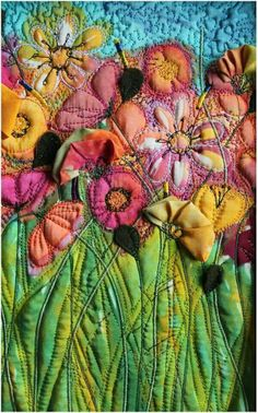 By Michelle Mischkunig. Love her use of color, textures, and 3-D elements.