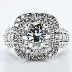 Strikingly beautiful custom diamond engagement ring!