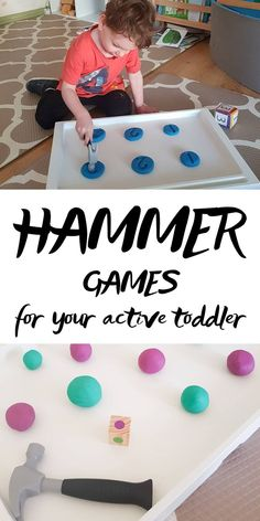 Do you have an active toddler?  Is your little one full of beans and bubbly energy? Hammer games are a big part of that! Let's see the best Hammer Games for your active toddler #toddleractivity #hammergames #kidsactivity
