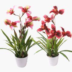 62cm Künstliche Phalaenopsis-Orchidee Kunstblumen Blumen im Blumentopf Decor