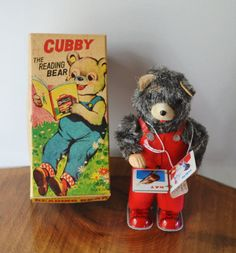 Wind Up Toy Vintage Toy Mechanical Toy Cubby The by Collectitorium