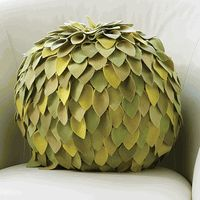Multi Color Leaf Ball Pillow