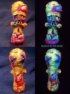 Flesh Style Hugo The Zombie Chillum by Undead Ed Glows in the Dark