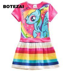 Rainbow Dash Dress - Nerdy McNerd Kids