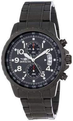 Invicta Men's 13787 Specialty Chronograph Black Dial Black Ion-Plated Stainless Steel Watch - http://www.specialdaysgift.com/invicta-mens-13787-specialty-chronograph-black-dial-black-ion-plated-stainless-steel-watch/