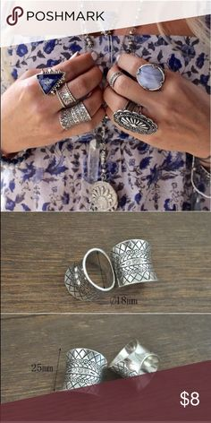 Boho ring New in package, brand noted is for exposure only. No flaws, bundle and save 15% 💕 size 7 Free People Jewelry