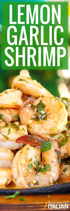 Low Unwanted Fat Cooking For Weightloss Lemon-Garlic Shrimp Is Bursting With Flavor, Truly Better Than Any Restaurant. A One-Skillet Meal, Made In Just 20 Minutes, This Is A Recipe You Are Not Going To Want To Pass Up. A Silky Lemon Butter Sauce Is Served Shrimp Dishes, Fish Dishes, Shrimp Recipes, Fish Recipes, Burger Recipes, One Skillet Meals, One Pot Meals, Lemon Garlic Shrimp, Garlic Minced
