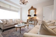 Elegant living space with traditional elements | JHR Interiors