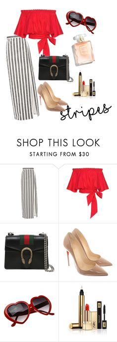 """""""Untitled #89"""" by feyza-klcr ❤ liked on Polyvore featuring Balenciaga, Saloni, Gucci, Christian Louboutin and Yves Saint Laurent"""