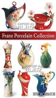 Franz Porcelain Fluttering Butterfly and Flower Collection Teapot Porcelain Ceramics, China Porcelain, Glass Ceramic, Ceramic Pottery, Teapots And Cups, Tea Service, Biscuit, Tea Party, Tea Cups