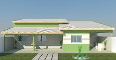 House Architecture Styles, Low Cost Housing, My House Plans, Home Design Plans, Home Renovation, Interior And Exterior, 3 D, Construction, House Design