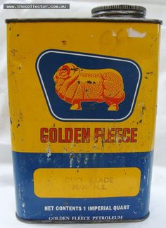 Golden Fleece 1 Quart Duo Grade oil tin