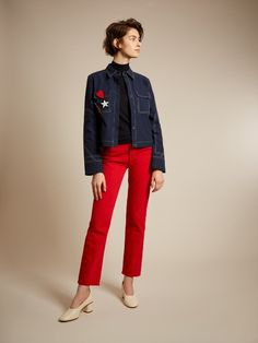 Yes to red jeans. Co