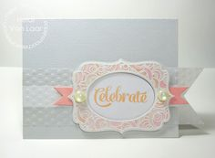 Card by PS DT Heidi Van Laar using PS Flirty Frames, Happy Birthday, Duo Die 2