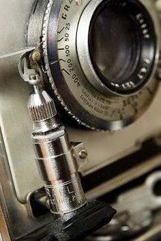 1948 vintage Graflex Pacemaker Crown Graphic camera closeup showing the solenoid.