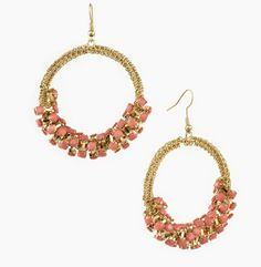 Day 2 of LuxeFinds.com's Ultimate Giveaway!  A pair of handmade coral earrings by Cara Accessories!
