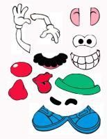 Mr. Potato Head Body (ears & eyes)  ojos, orejas, labios, brazos, dientes