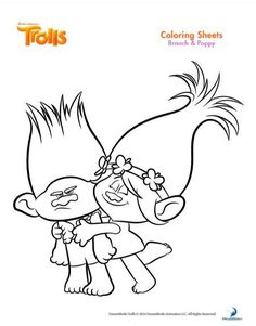 Trolls Coloring Pages – Free Printables