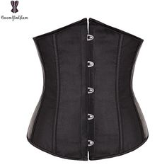 c56249c777 Free Shipping Satin Mini Waist cincher Bustiers Top Workout Shape Body  shaper Plus Size Underbust sexy women Corset S-6XL 2833. Yesterday s price   US  12.71 ...