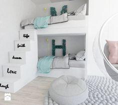 flaming - Mały pokój dziecka dla chłopca dla dziewczynki dla rodzeństwa dla malucha, styl nowoczesny - zdjęcie od Karolina Czapla