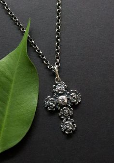 Shops, Pendant Necklace, Jewelry, Fashion, Dirndl, Rhinestones, Crosses, Silver, Moda